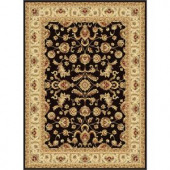 Tayse Rugs Century Black 7 ft. 10 in. x 10 ft. 6 in. Traditional Area Rug
