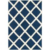 Safavieh Chatham Dark Blue/Ivory 2 ft. x 3 ft. Area Rug