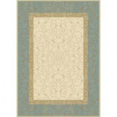 MELISSA Ivory/Blue 1 ft. 11 in. x 3 ft. 6 in. Area Rug