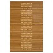 Anji Mountain Light Brown 20 in. x 32 in. Bamboo Kitchen & Bath Mat