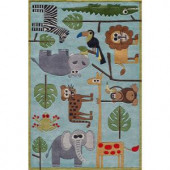Momeni Caprice Collection Blue 2 ft. x 3 ft. Area Rug
