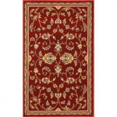 Natco Annora Red 22 in. x 36 in. Accent Rug