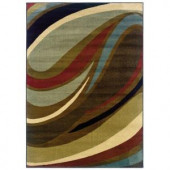 Legacy Curve Brown 10 ft. x 13 ft. Area Rug