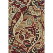 Loloi Rugs Summerton Life Style Collection Red Multi 7 ft. 6 in. x 9 ft. 6 in. Area Rug