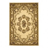 Kas Rugs Aubusson Ivory 2 ft. 3 in. x 3 ft. 3 in. Area Rug