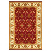Kas Rugs State of Honor Red/Ivory 3 ft. 11 in. x 5 ft. 3 in. Area Rug