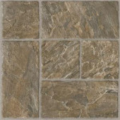 Armstrong 12 in. x 12 in. Peel and Stick Slate Modular Brown Vinyl Tile (24 sq. ft. /Case)