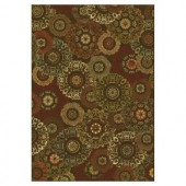 Kas Rugs Retro Finish Mocha 2 ft. 2 in. x 3 ft. 7 in. Area Rug