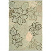 Nourison Rug Boutique Linear Bloom Mint 3 ft. 6 in. x 5 ft. 6 in. Area Rug