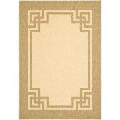 Martha Stewart Living Deco Frame Sand/Coffee 7 ft. 10 in. x 11 ft. Indoor/Outdoor Area Rug