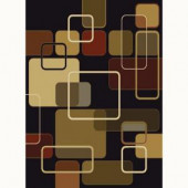 Jazz Black 5 ft. 3 in. x 7 ft. 2 in. Contemporary Area Rug