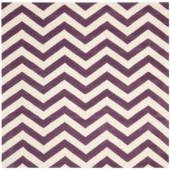 Safavieh Chatham Purple/Ivory 9 ft. x 9 ft. Square Area Rug