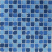 EPOCH Oceanz Southern Tumbled Matte Glass Mesh Mounted Floor & Wall Tile - 4 in. x 4 in. Tile Sample