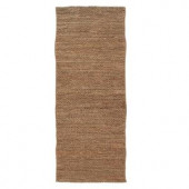 Home Decorators Collection Chainstitch Natural 3 ft. x 8 ft. Runner