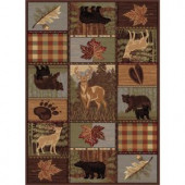 Tayse Rugs Nature Multi 5 ft. 3 in. x 7 ft. 3 in. Lodge Area Rug