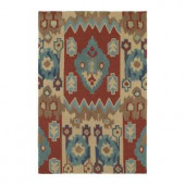 Kaleen Crowne Chamberlin Red 7 ft. 6 in. x 9 ft. Area Rug