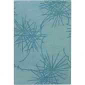 Chandra Counterfeit Blue 7 ft. 9 in. x 10 ft. 6 in. Indoor Area Rug