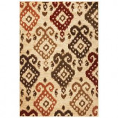 Kas Rugs Soft Ikat Ivory 2 ft. 2 in. x 3 ft. 3 in. Area Rug