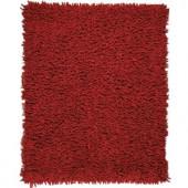 Anji Mountain Crimson Red 5 ft. x 8 ft. Silky Shag Area Rug
