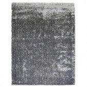 Lanart Silk Reflections Salt and Pepper 5 ft. x 7 ft. 6 in. Area Rug