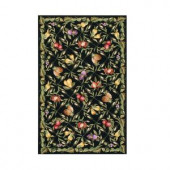 Home Decorators Collection Fruit Garden Black 1 ft. 8 in. x 2 ft. 6 in. Area Rug