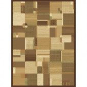 Natco Shadows Bastille Brown 5 ft. 3 in. x 7 ft. 7 in. Area Rug