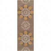 Surya B. Smith Fatigue Green 2 ft. 6 in. x 8 ft. Runner