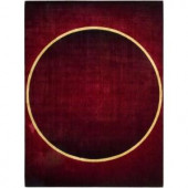 Nourison Parallels Burgundy 3 ft. 6 in. x 5 ft. 6 in. Area Rug