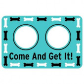 Bungalow Flooring Printed Come and Get It 17.5 in. x 26.5 in. Pet Mat