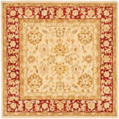 Safavieh Anatolia Ivory and Red 6 ft. x 6 ft. Square Area Rug