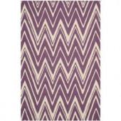 Safavieh Cambridge Purple/Ivory 4 ft. x 6 ft. Area Rug