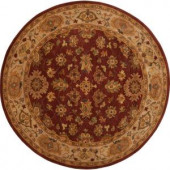 Karnak Red Clay 8 ft. Round Area Rug