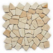 Solistone Indonesian Mosaic 12 in. x 12 in. Bamboo Sandstone Mesh-Mounted Mosaic Tile (10 sq. ft./case)