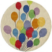 Momeni Caprice Collection Multi 5 ft. x 5 ft. Round Area Rug