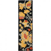 Safavieh Blossom Black/Multi 2.25 ft. x 8 ft. Runner