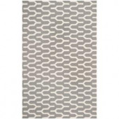 Safavieh Dhurries Silver/Ivory 4 ft. x 6 ft. Area Rug