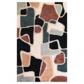 Kas Rugs Contempo Rocks Beige/Blue 3 ft. 3 in. x 5 ft. 3 in. Area Rug
