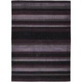 Chandra Amigo Charcoal/Purple 7 ft. 9 in. x 10 ft. 6 in. Indoor Area Rug