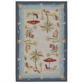 Couristan Outdoor Escape Pacific Heights 3 ft. 6 in. x 5 ft. 6 in. Area Rug