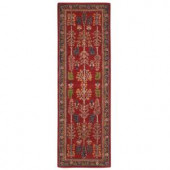 Home Decorators Collection Regency Red 2 ft. 9 in. x 14 ft. Runner