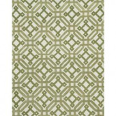 Loloi Rugs Weston Lifestyle Collection Ivory Green 7 ft. 9 in. x 9 ft. 9 in. Area Rug