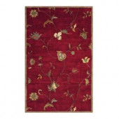 Home Decorators Collection Lenore Red 6 ft. x 9 ft. Area Rug