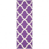 Safavieh Cambridge Purple/Ivory 2.5 ft. x 10 ft. Runner