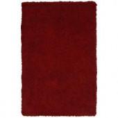 LR Resources Senses Shag Red 5 ft. x 7 ft. 9 in. Plush Indoor Area Rug