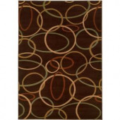 LR Resources Contemporary Brown Runner 1 ft. 10 in. x 7 ft. 1 in. Plush Indoor Area Rug