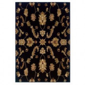 LR Resources Timeless Traditional Design Black 5 ft. 3 in. x 7 ft. 9 in. Indoor Area Rug