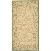 Safavieh Courtyard Natural/Olive 2 ft. x 3.6 ft. Area Rug