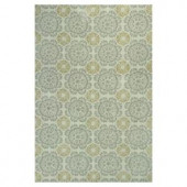 Kas Rugs Class of Tiles Silver/Gold 2 ft. 6 in. x 4 ft. 2 in. Area Rug