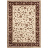 World Rug Gallery Manor House Ivory Isphahan 7 ft. 10 in. x 10 ft. 2 in. Area Rug