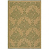 Safavieh Courtyard Green/Natural 4 ft. x 5.6 ft. Area Rug